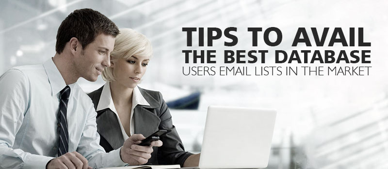 Tips to Avail the best Database Users Email Lists in the market